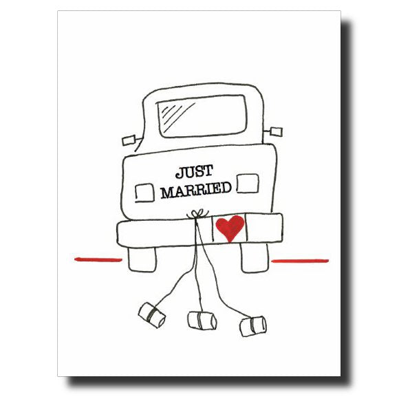 Just Married card by Janet Karp