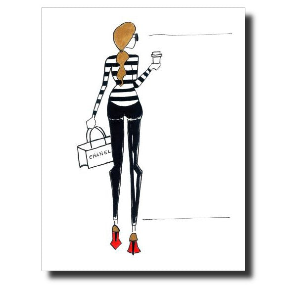 Laboutin Love card by Janet Karp