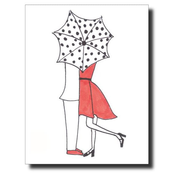 Laughter in the Rain card by Janet Karp