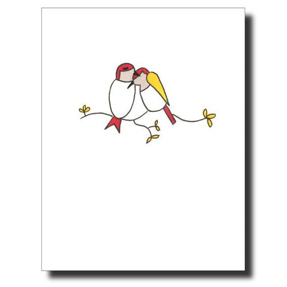 Love BIrds card by Janet Karp