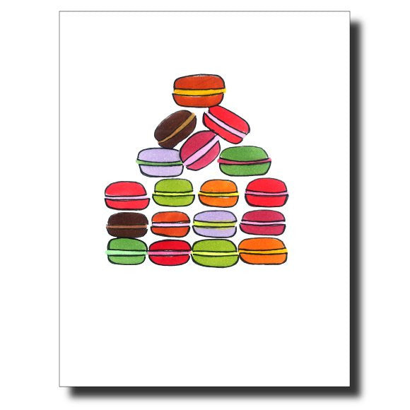 Macarons card by Janet Karp