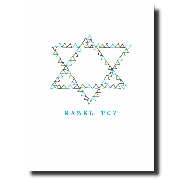 Mazel Tov - Him card by Janet Karp