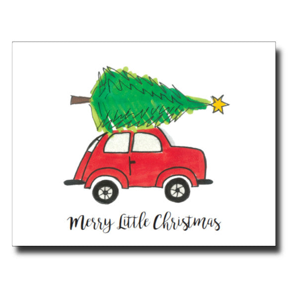 Merry Little Christmas card by Janet Karp