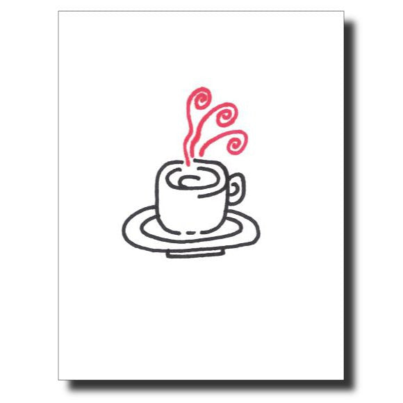 Morning Coffee card by Janet Karp