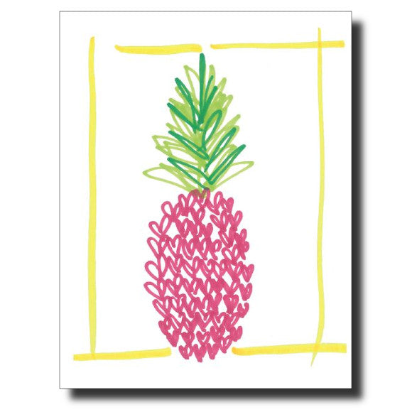 Pink Pineapple card by Janet Karp