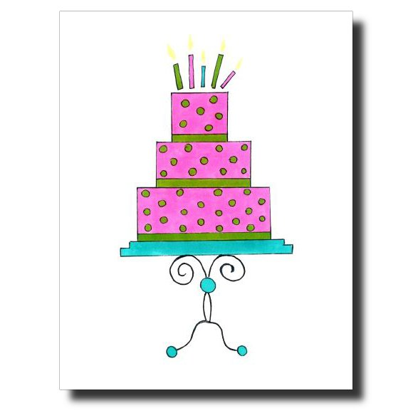 Pink Birthday card by Janet Karp