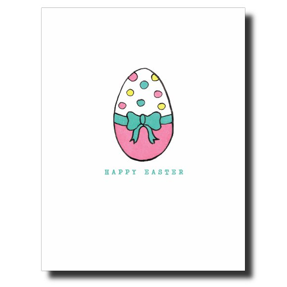 Polka Dot Easter Egg card by Janet Karp