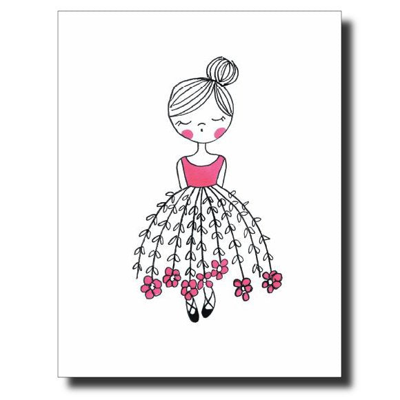 Pretty Girl card by Janet Karp