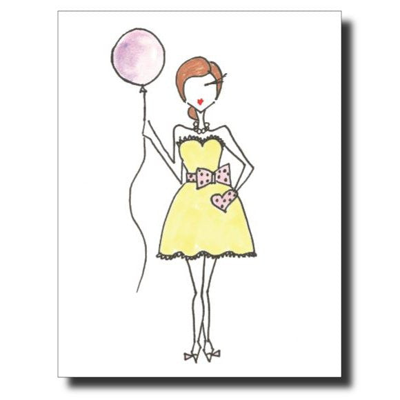 Purple Balloon card by Janet Karp