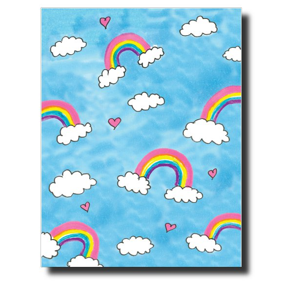 Rainbows card by Janet Karp