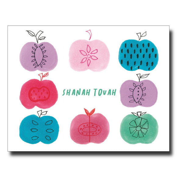 Shanah Tovah Apples card by Janet Karp