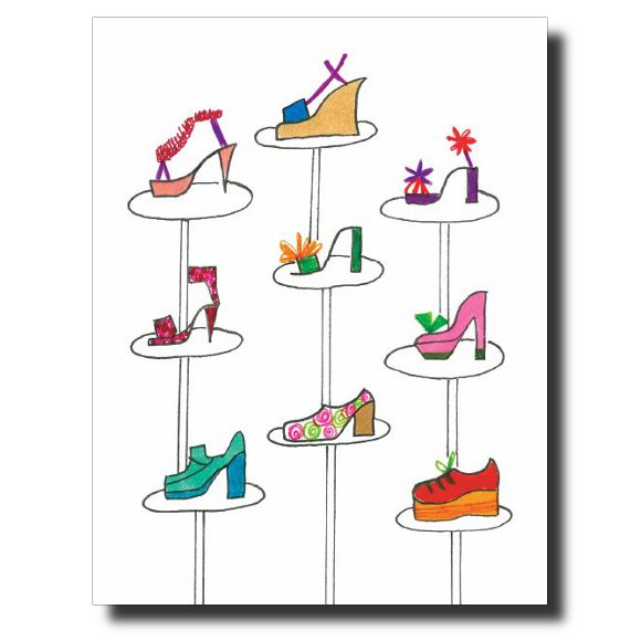 Shoe-Tree card by Janet Karp