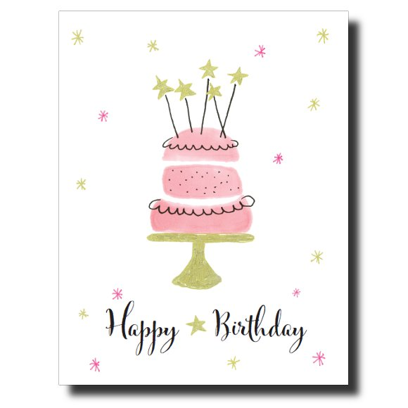 Sparkly Birthday card by Janet Karp