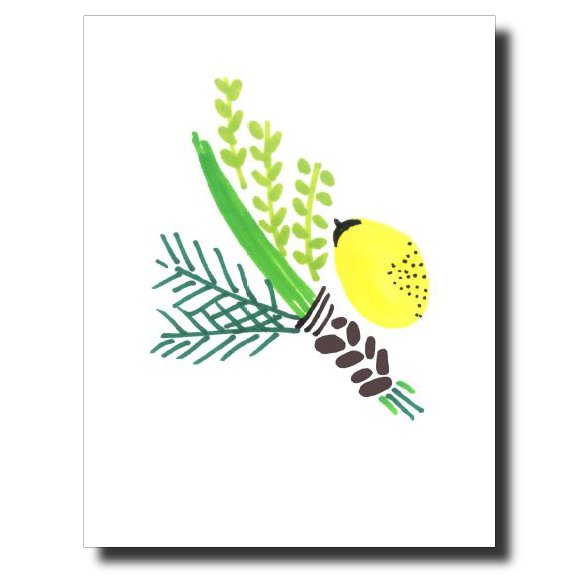 Sukkot card by Janet Karp