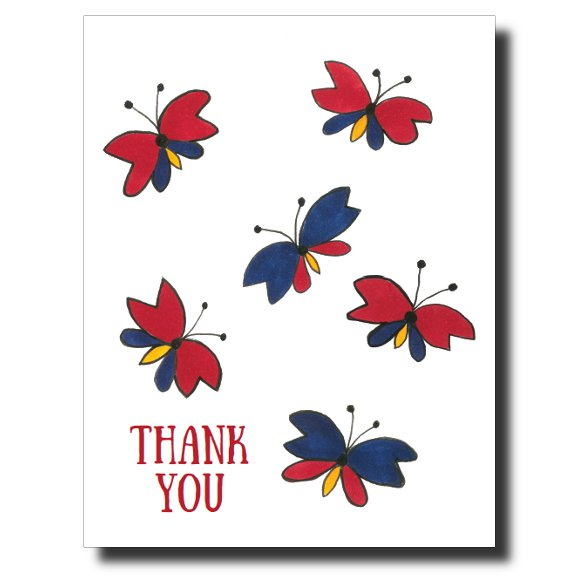 Thank You Butterflies card by Janet Karp