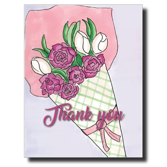 Thank You Bouquet card by Janet Karp