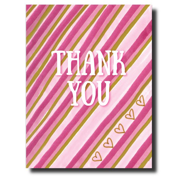 Thank You Hearts card by Janet Karp
