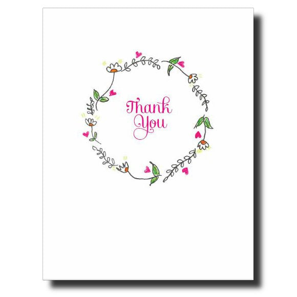Thank You Wreath card by Janet Karp