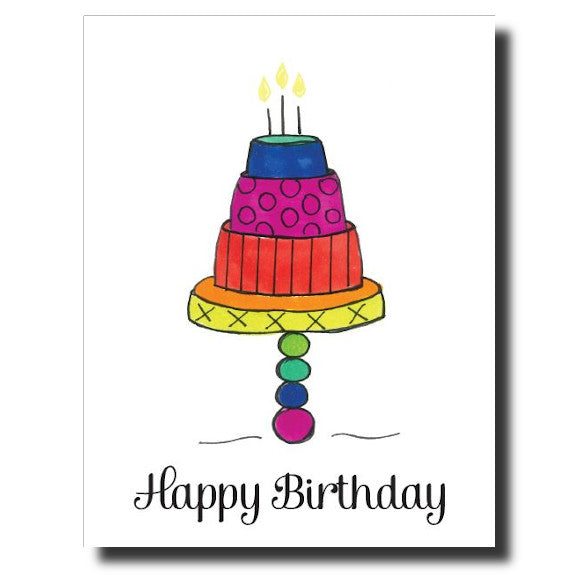 Tiered Birthday card by Janet Karp