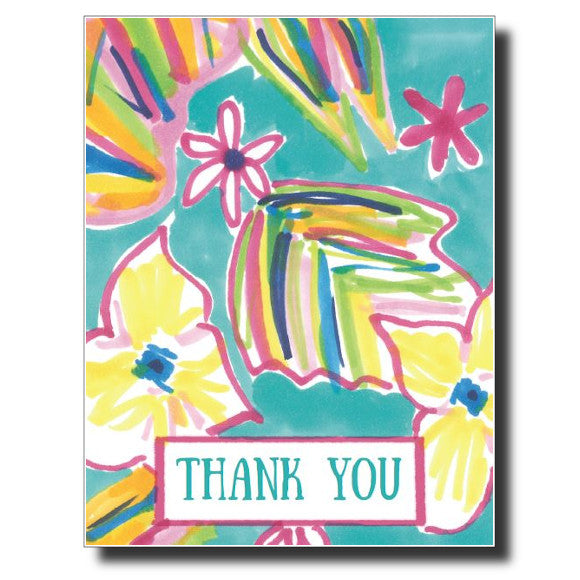 Tropical Thank You card by Janet Karp