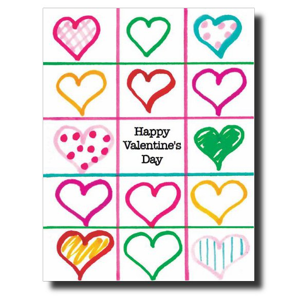 Valentine's Squares card by Janet Karp