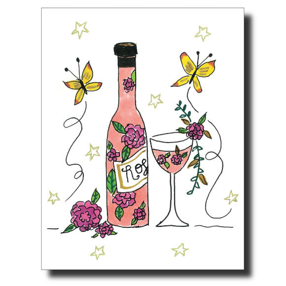 Vino in Spring card by Janet Karp
