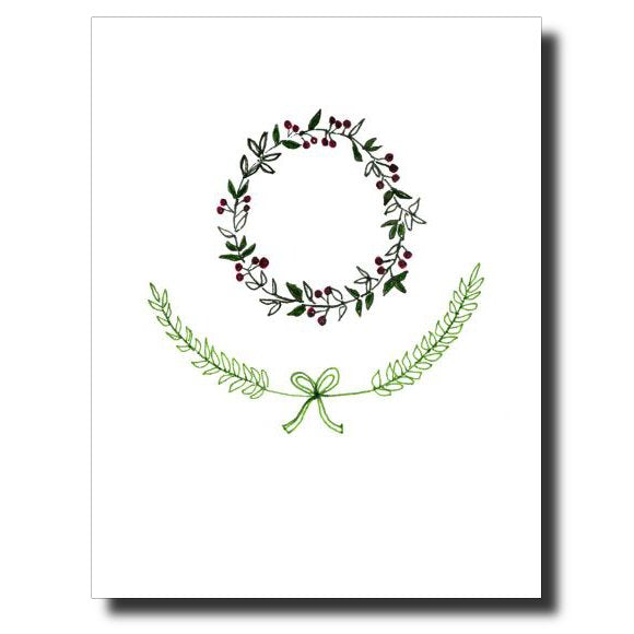 Wreath card by Janet Karp
