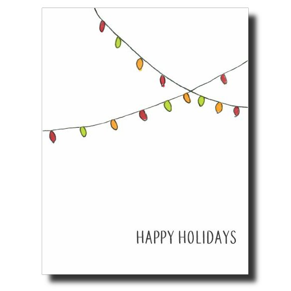 Christmas Lights card by Janet Karp