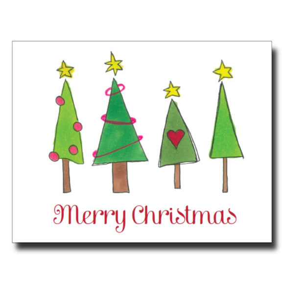 Christmas Trees card by Janet Karp