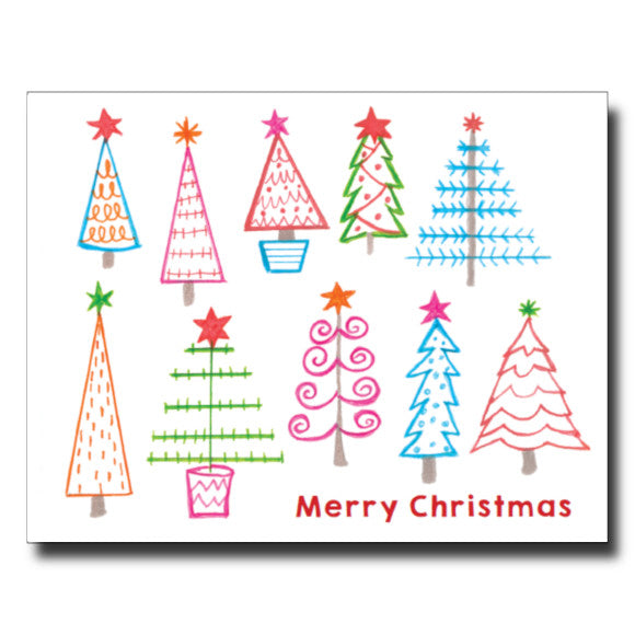 Colourful Christmas card by Janet Karp