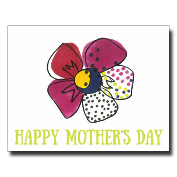 Flowery Mother's Day card by Janet Karp
