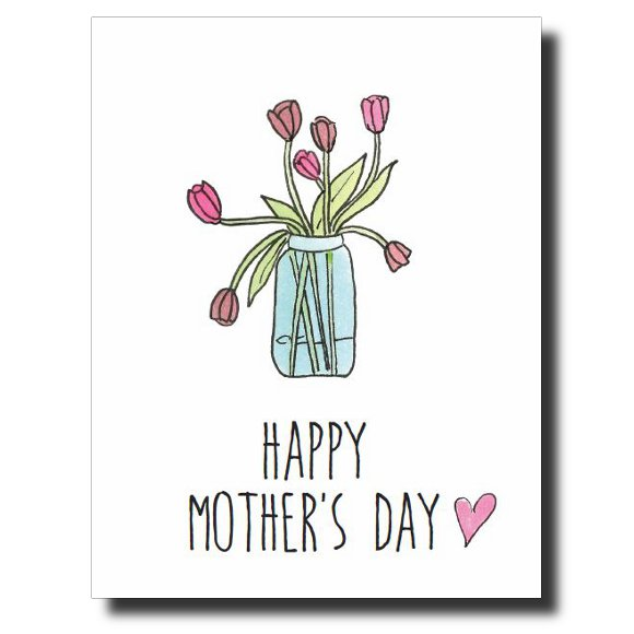 Tulips card by Janet Karp