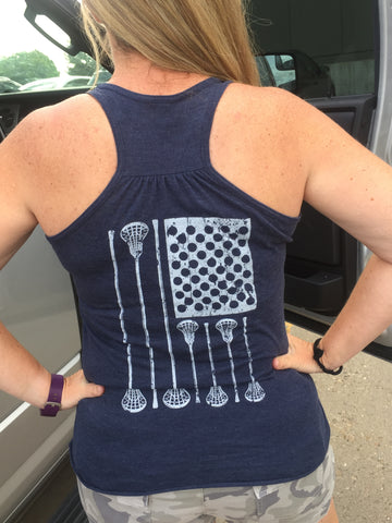3CF LAX Flag Ladies Tank