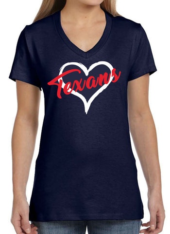 Klein Texans Ladies V-neck Tee