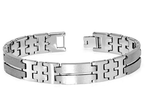 Tungsten Carbide Highly Polished and Brushed Finished Unique Bracelet for Men / Women