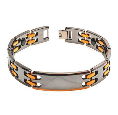 Tungsten Carbide Two-Tone Rose and Yellow Gold Plated Modern Bracelet for Men / Women