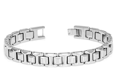 Tungsten Carbide H-Link Design Unique Bracelet for Men / Women