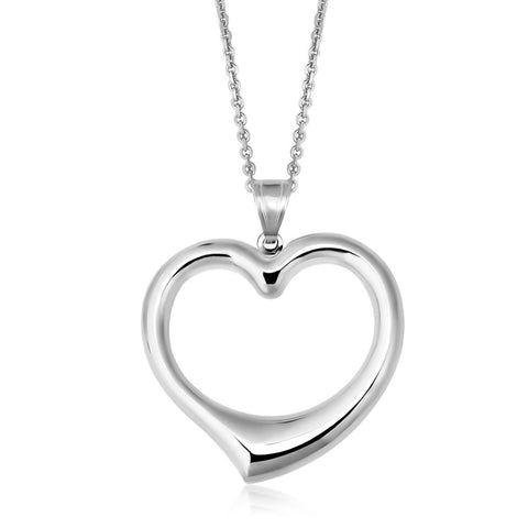14K Yellow Gold & Sterling Silver Designer Pendant with Reversible Heart
