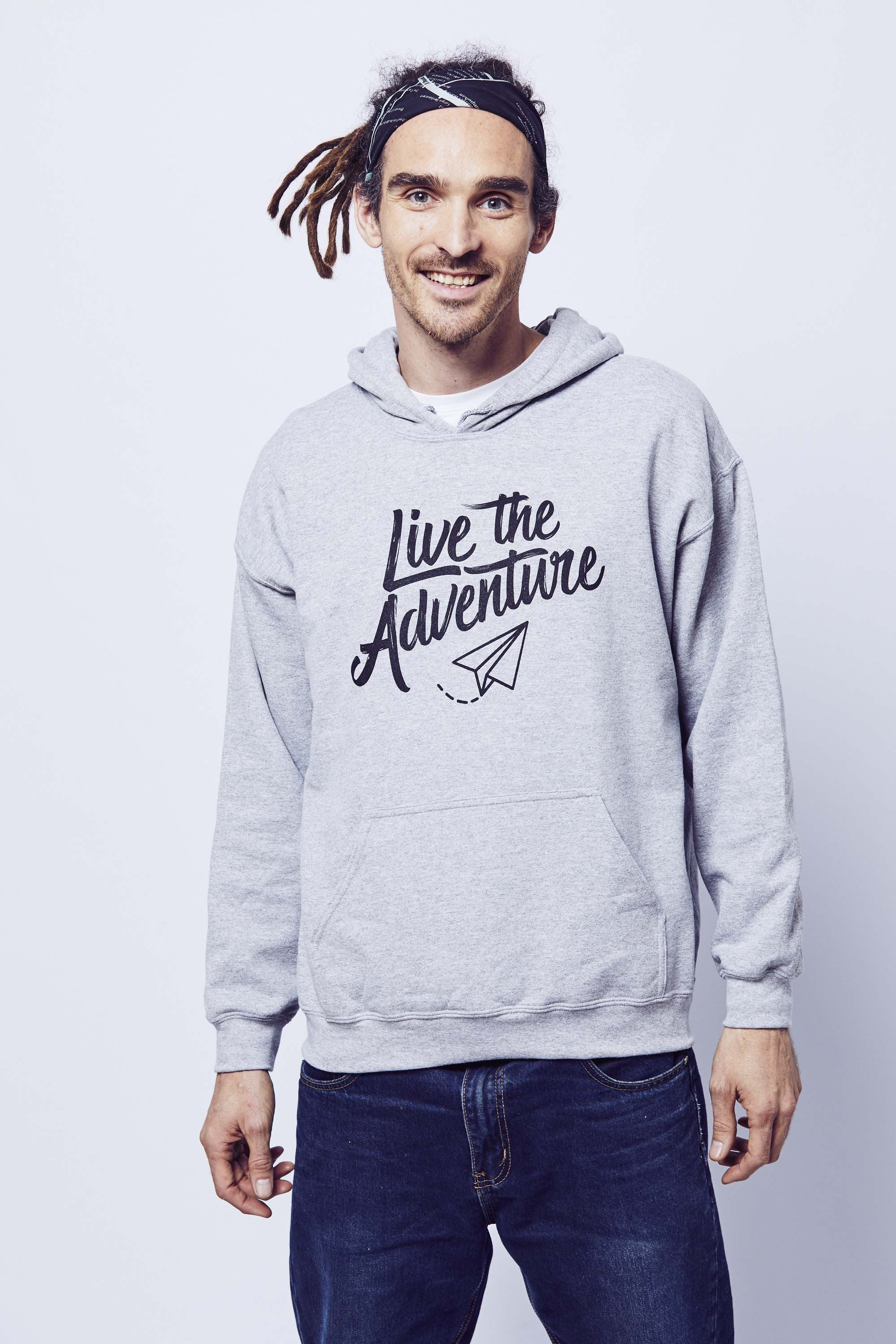Live The Adventure Hoodie - Grey