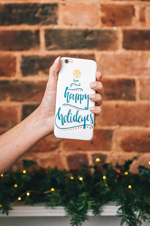PointlessBlog Happy Holideyes iPhone case