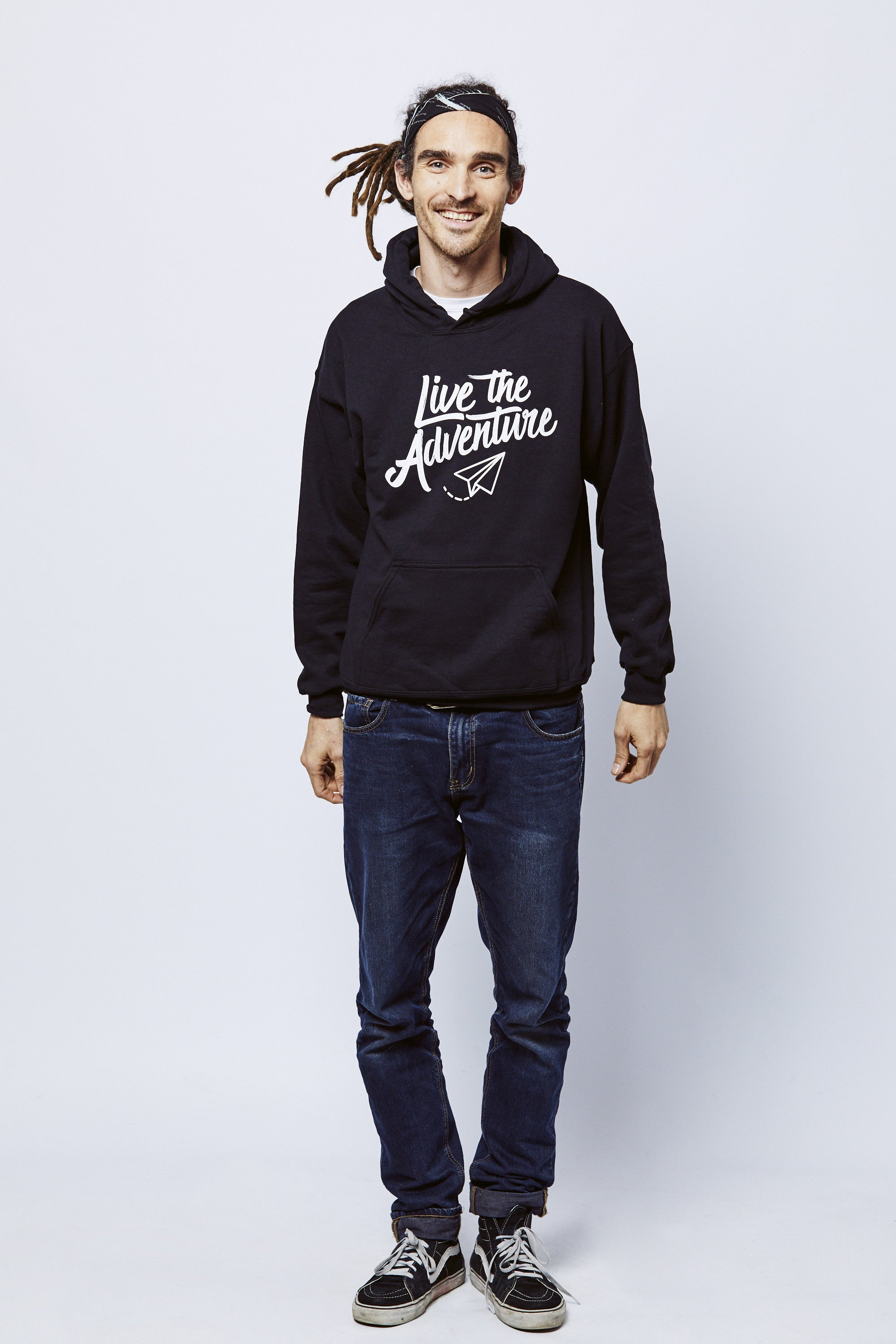 Live The Adventure Hoodie - Black