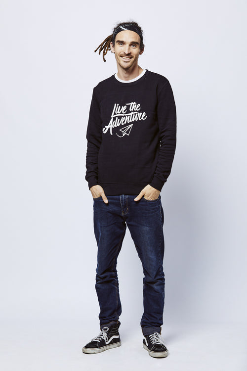 Live The Adventure Sweatshirt - Black