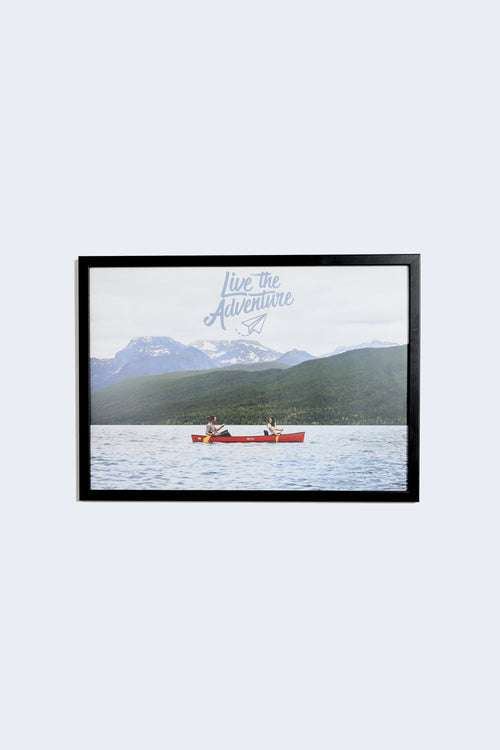 Live The Adventure Landscape Poster - A2