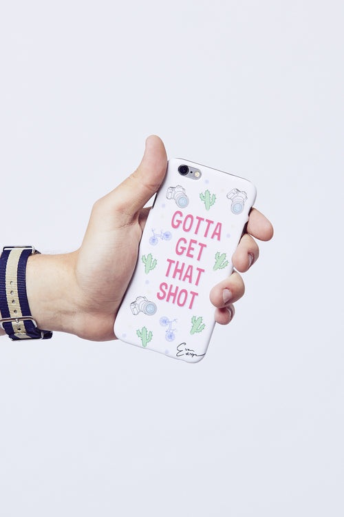 Evan Edinger 'Gotta Get That Shot' iPhone Case