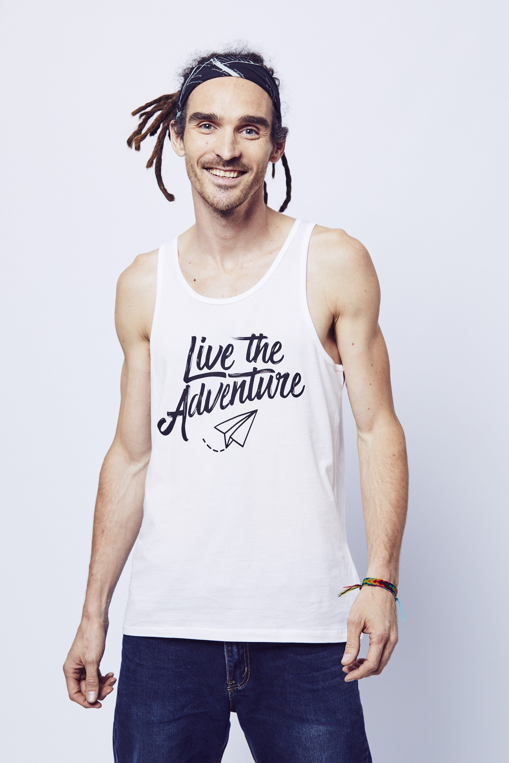 Live The Adventure Tank - White