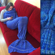 Turquoise Sea Mermaid Tail Blanket Size Large
