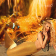 Provoke Liquid Gold Adult Mermaid Tail with FINIS Fantasy Monofin