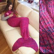 Passion Pink Mermaid Tail Blanket Size Large