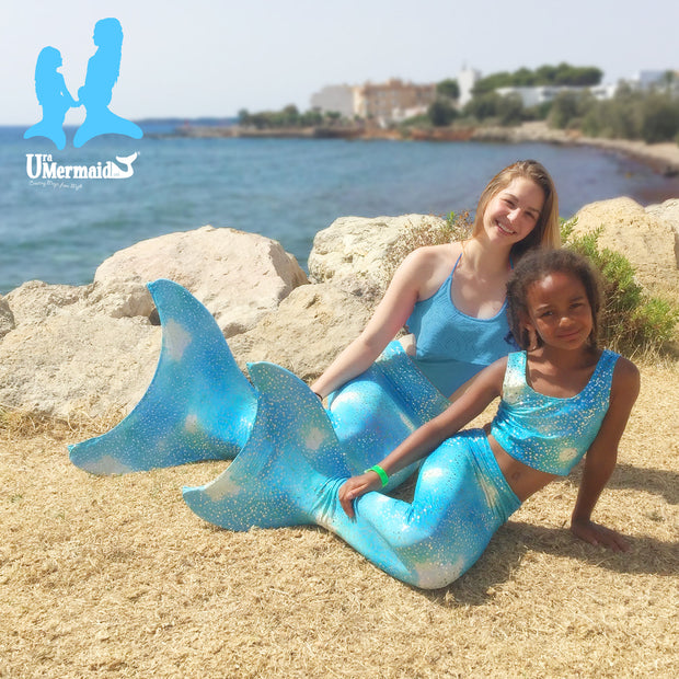 Mermaid Tails in Kalani's Bahama Blue by UraMermaid.com