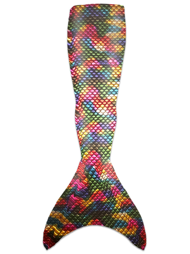 Olympic teen metallic rainbow mermaid tail skin by ura mermaid